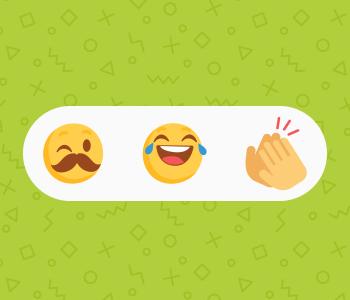 Emojis showing boldness