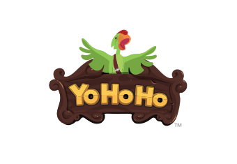 Yo Ho Ho Logo with green parrot