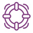 purple life preserver icon