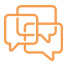 orange speech bubble icon