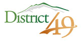 District 49 school logo