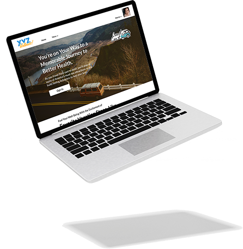 Elevate portal shown on a laptop